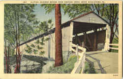 Clifton Covered Bridge Over Swatara Creek Postcard
