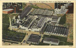 Aerial View Of Ac Spark Plug Plant On Dort Highway