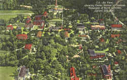 Air View Showing Center Section Of Campus, University Of North Carolina
