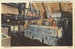 Underground Motor Train In Copper Mine