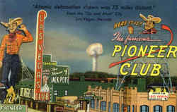 Pioneer Club Atomic detonation shown was 75 miles distant
