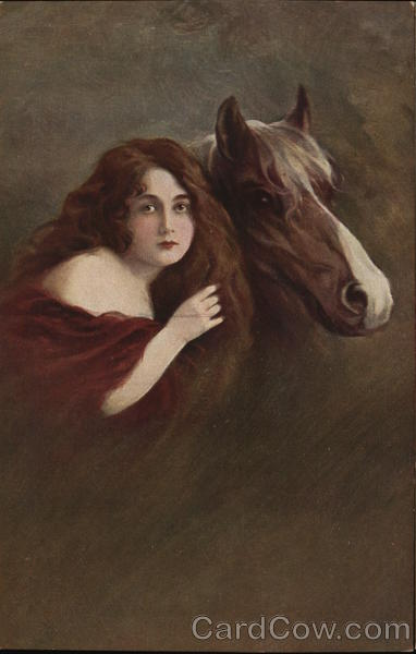 Portrait of Woman With Horse Women