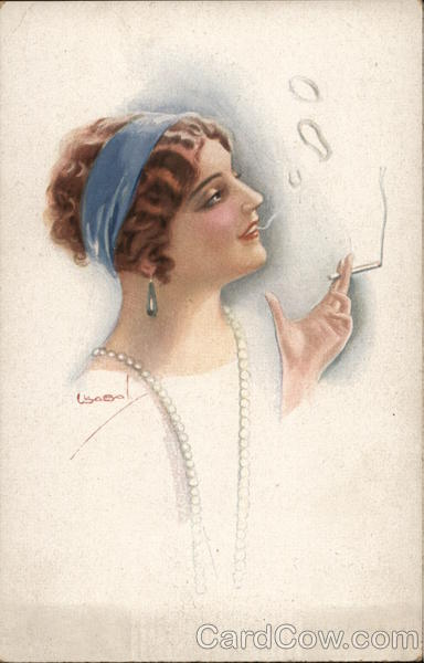 Woman Smoking Cigarette Lottie Usabal Women