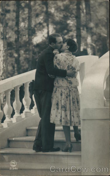Couple Kissing on the Stairs