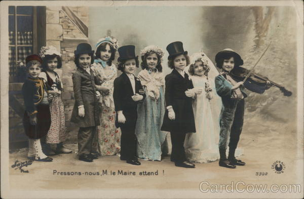 Children Dressed in Fine Clothes - Wedding Party