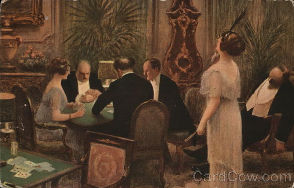 People Playing Cards Albert Andre Guillaume Card Games