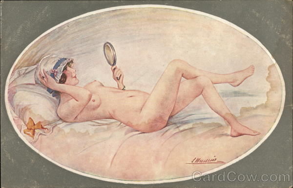 Naked Woman Relaxing Suzanne Meunier Risque & Nude