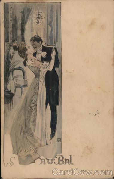 French Au Bal Art Nouveau