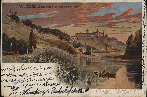 Greeting Countryside Marienberg Fortress Postcard 1902