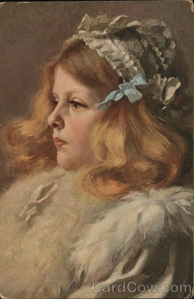 Pretty Blonde Haired Girl Goldelse F. Bersch Girls