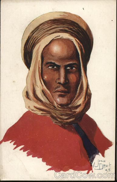 1915 Portrait of Arab Man Jean Droit