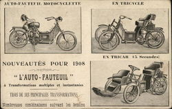 1908 Auto-Fauteuil Advertising