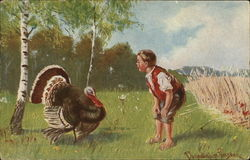 Boy with Large Turkey