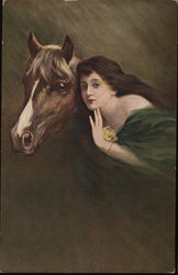 Woman Hugging Horse
