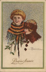 Two children dressed for winter