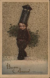 Little Boy Chimney Sweep wearing Stovepipe Hat
