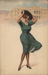 Art Deco Woman on Beach