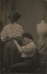 A Woman Having Alterations Done to her Dress