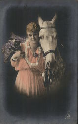 A Woman with A White Horse
