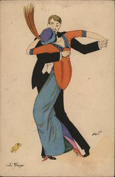 Art Deco Couple Dancing