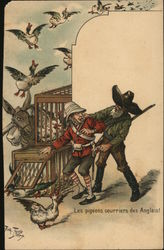 Rare: The pigeons couriers of the English!