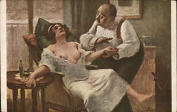 Man Soothing Partially Dressed Woman