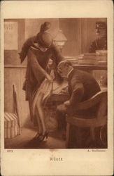 Piquee - Woman Lifting Hem of Skirt for Doctor to Examine