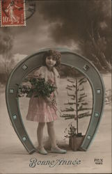 Girl Posing with Tree and Horseshoe