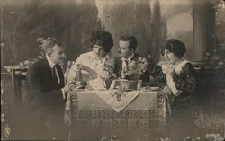 Couples Having Tea