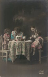 Family Having Tea