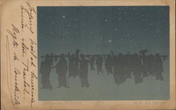 Silhouette of Crowd of People Beneath the Stars