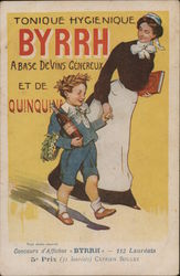 Byrrh Tonic Poster - Governess with Boy