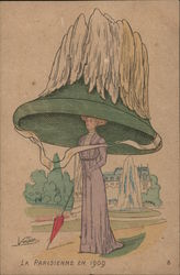 Woman in Very Large Hat