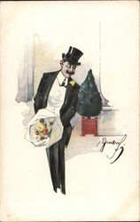 Man in Tuxedo with Flowers