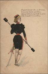French Woman in Uniform