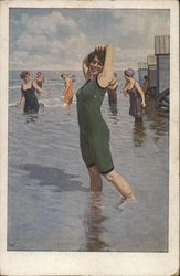 Women Playing in the Surf