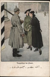 Women Chatting Up German Soldier