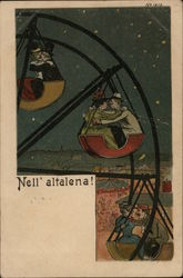 Nell'altalena! - Couples Kissing on Ferris Wheel