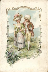 Finely Dressed Young Couple
