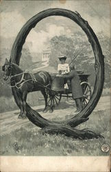 Letter Q - Woman in Horse Cart