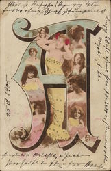 Letter A, Woman's Faces
