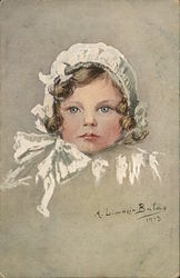 Young Girl Wearing a Bonnet