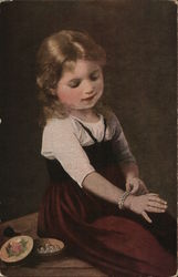 Young Girl Admiring Bracelet