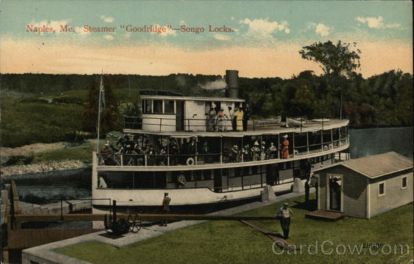 Steamer Goodridge, Songo Locks Naples Maine