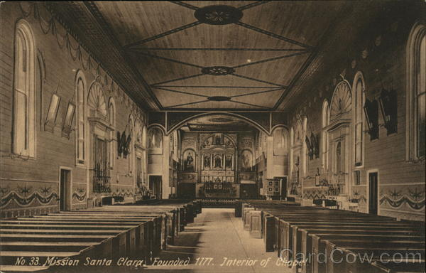 Interior of Chapel Santa Clara California