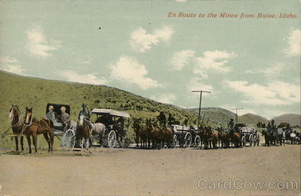 En Route to the Mines from Boise, Idaho Mining