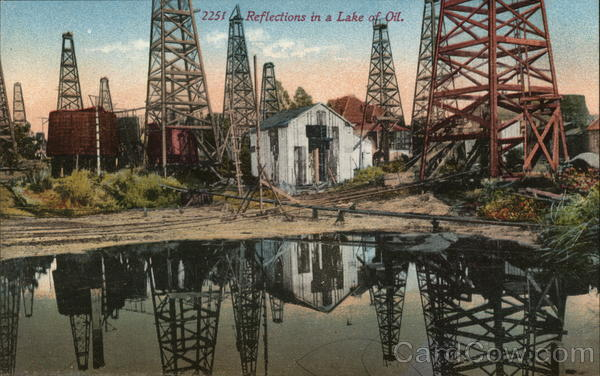 Reflections in a Lake of Oil Oil Wells