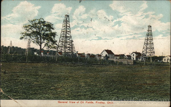 View of Oil Fields Findlay Ohio