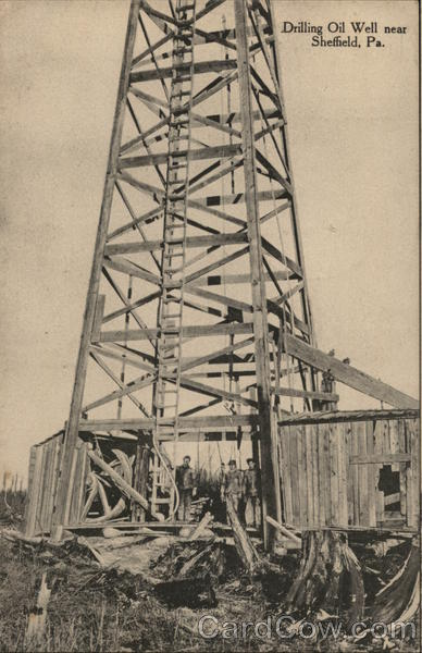 Drilling Oil Well Sheffield Pennsylvania