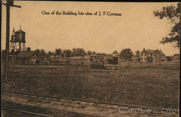 One of the Building lot sites of J.F. Gorman Pennsylvania